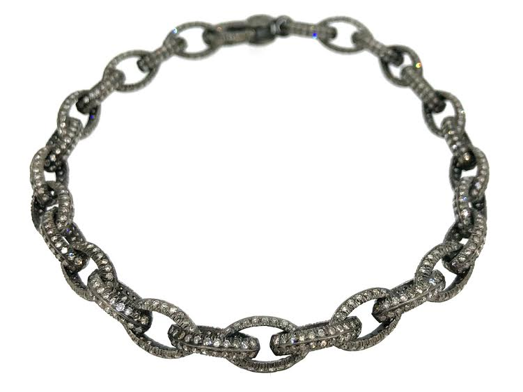Marquise Silver Link Bracelet