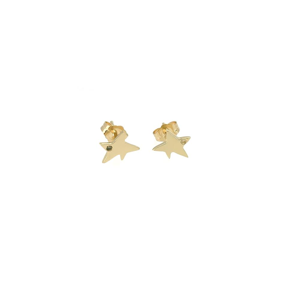 Broken Star Diamond Studs