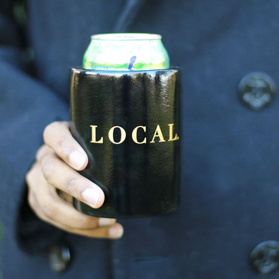 Local. The Scout Guide Boat Koozie - Black Back View