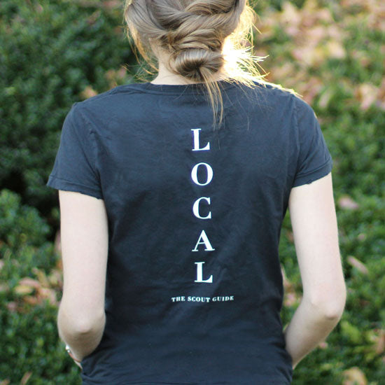 The Scout Guide Vintage Local Distressed T-Shirt - Ladies Back View