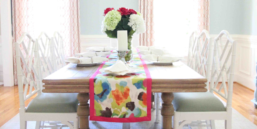 New South Home floral table runner