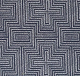 Dotted Maze Navy Pillow Cover