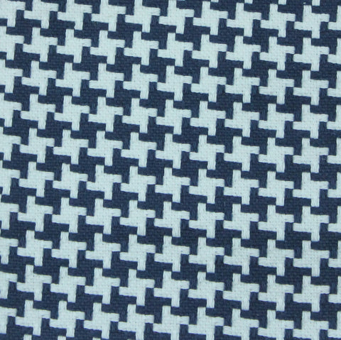 Tic Tac Toe Navy Fabric by the Yard