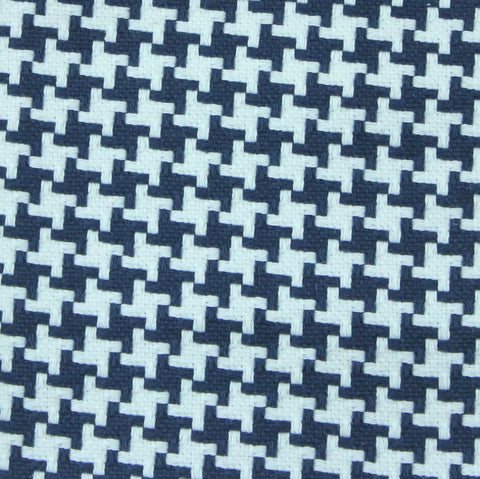 Tic Tac Toe Navy Fabric Swatch