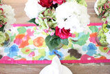 Fleurish and Raspberry Two-Sided Table Runner