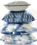 Navy and Gray Flower Power Pillow Bundle