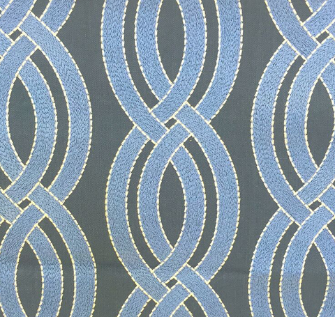 Crossed Paths Navy Fabric by the Yard