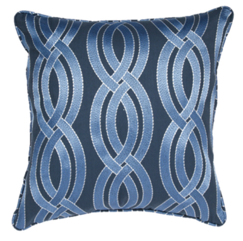 Crossed Paths Navy Pillow Cover
