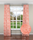 Untamed Coral Custom Drapery Panel