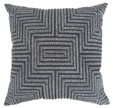 Dotted Maze Charcoal Pillow Cover