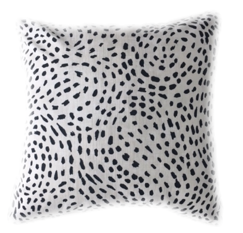 Dottie Black Pillow Cover