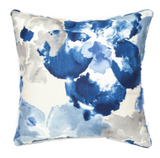 Flower Power Indigo Pillow Cover