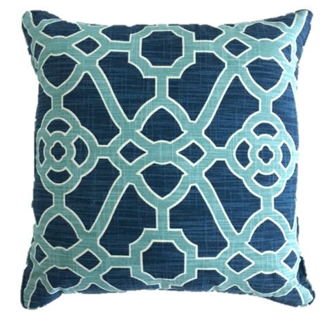 Garden Gate Indigo Pillow Cover