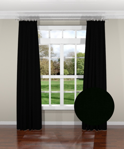 Signature Linen Black Custom Drapery Panel