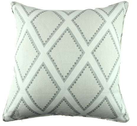 Latticework Gray Pillow Cover