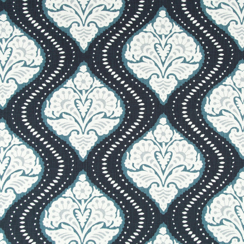 Ogee Me Navy Fabric Swatch