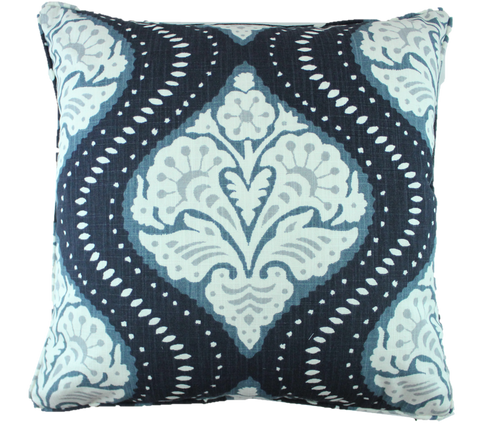 Ogee Me Navy Pillow Cover