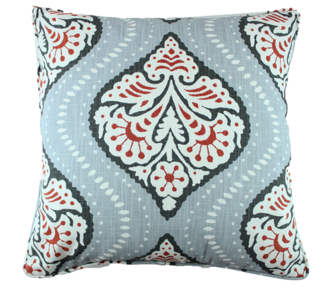 Ogee Me Gray Pillow Cover
