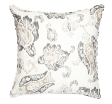Floral Sketch Gray Pillow Cover