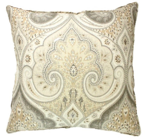 Lucianno Taupe Pillow Cover