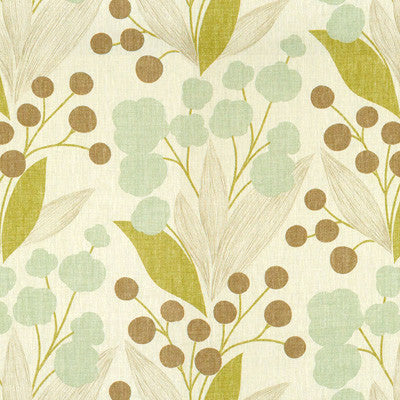 Beachy Botanical Cream Fabric Swatch