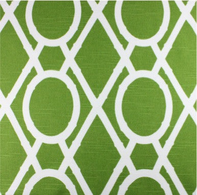 Bamboo Geo Green Fabric by the Yard