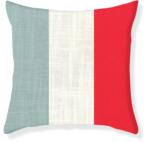 Aqua and Coral Colorblock Pillow Cover