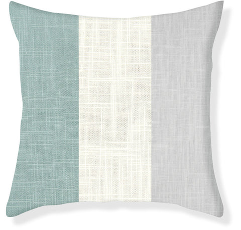 Aqua and Gray Colorblock Pillow Cover