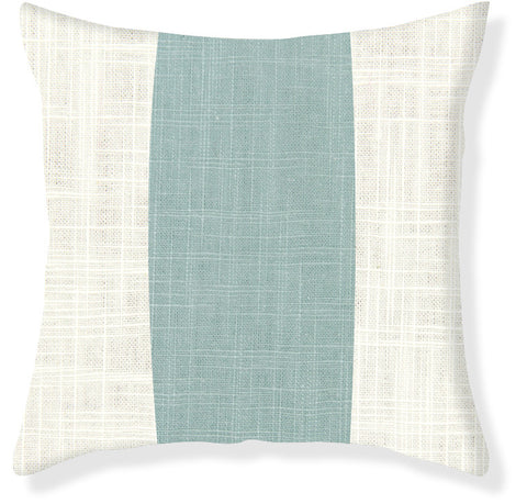 Aqua Racer Stripe Pillow Cover