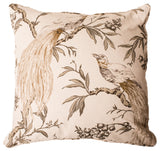 Aviary Taupe Pillow Cover