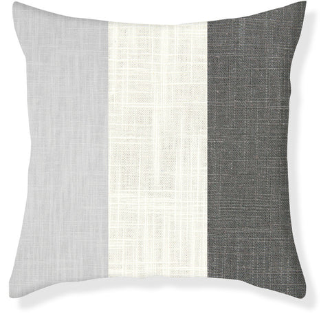 Charcoal and Gray Colorblock Pillow Cover