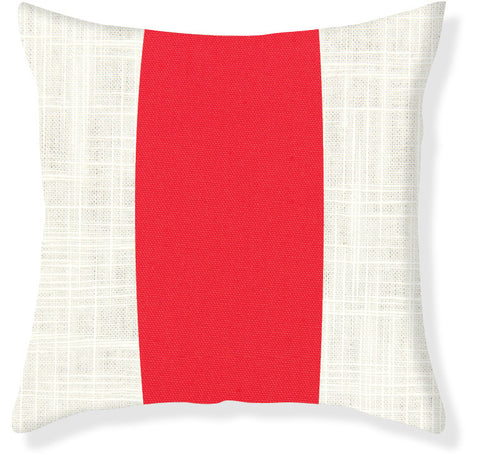 Coral Racer Stripe Pillow Cover