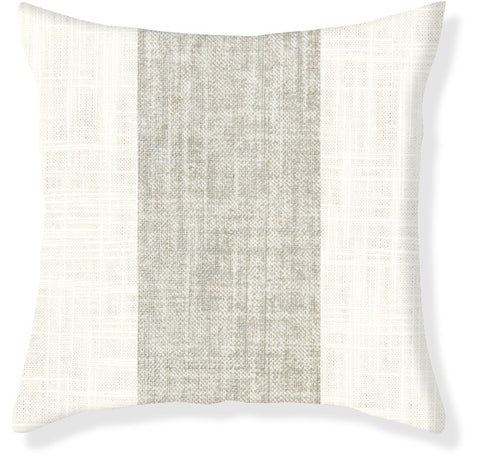 Silver Racer Stripe Pillow Cover