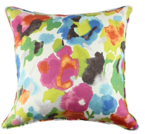 Fleurish Raspberry Pillow Cover