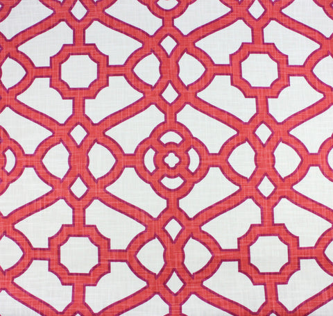 Garden Gate Coral Fabric Swatch