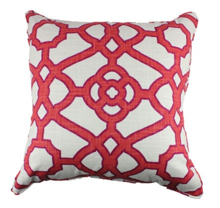 Garden Gate Coral Pillow Cover