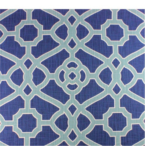 Garden Gate Indigo Fabric by the Yard