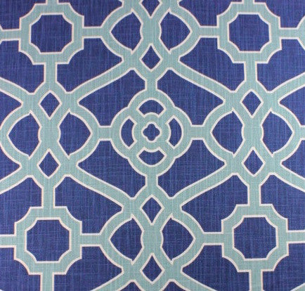 Garden Gate Indigo Fabric Swatch