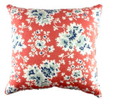Geraniums Coral Pillow Cover