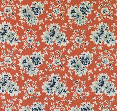 Geraniums Coral Fabric by the Yard