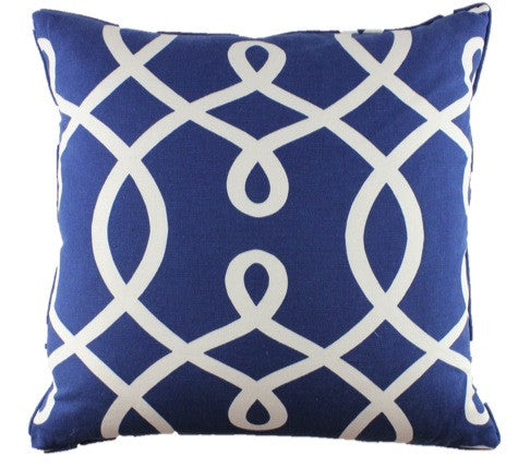 In Knots Navy Pillow Cover