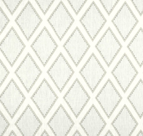 Latticework Gray Fabric by the Yard