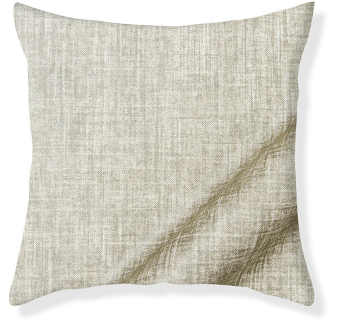 Linen Shimmer Silver Pillow Cover