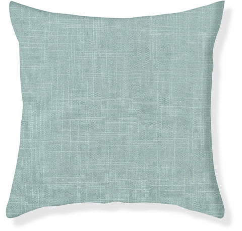 Signature Linen Aqua Pillow Cover