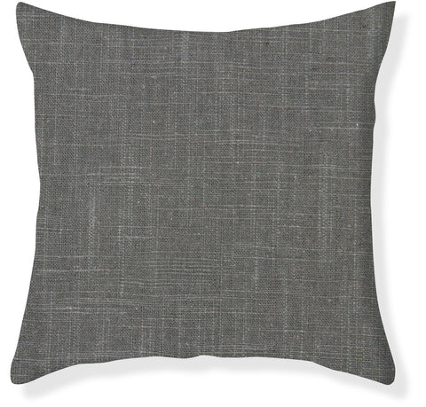 Signature Linen Charcoal Pillow Cover