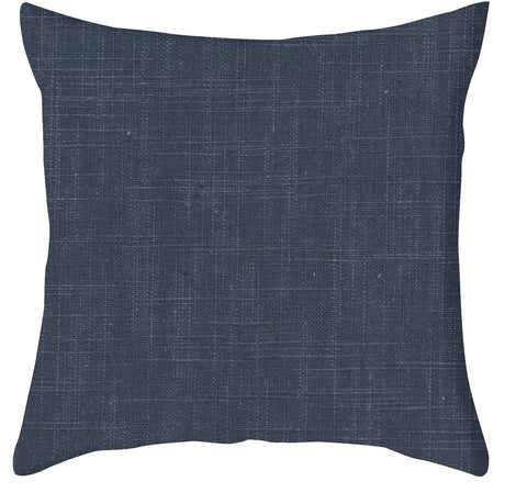 Signature Linen Navy Pillow Cover
