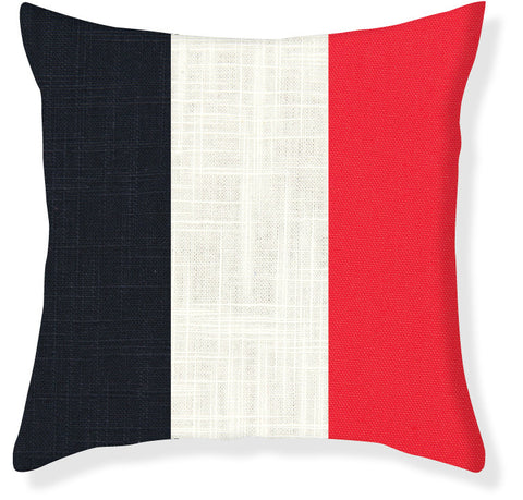 Coral and Navy Colorblock Pillow Cover
