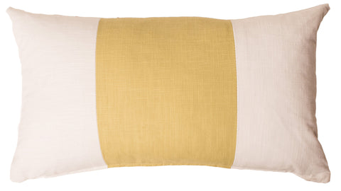 Citron Racer Stripe Pillow Cover