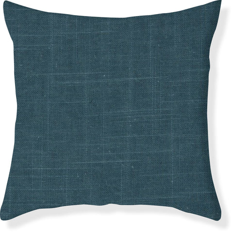 Signature Linen Teal Pillow Cover