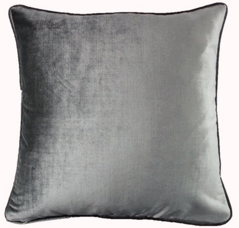 Velvet Shimmer Gray Pillow Cover